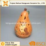 Décorations d'Halloween, Bougeoir creux avec Owl Conception