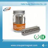Sfera magnetica di assicurazione del neodimio 3mm 5mm dei magneti della sfera magnetica commerciale del cubo