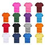 T-shirt 100% lisos feitos sob encomenda do algodão do t-shirt do polo