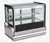 Kurve Glass Door Edelstahl Table Cake Showcase Cooler mit Cer, COLUMBIUM, RoHS