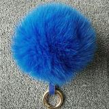 모자 실제적인 Fox 모피 POM Poms를 위한 모피 공 열쇠 고리 또는 모피 자동 고사포
