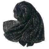 Châle de Geometic Linen&Cotton/écharpe de estampage chauds de mode (HWBC02)