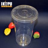 De douane drukte de Duidelijke Transparante Beschikbare Plastic Kop van het Huisdier van pp met Deksel af