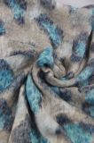 Écharpes de fleur estampées par polyester, châle pour l'accessoire de mode de filles