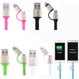 Cable de datos micro del cargador del USB del relámpago rápido para el iPhone de Samsung