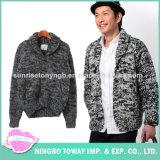 Camisola de lã elegante tricotando manualmente acrílica de vestuário dos homens