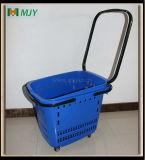 Panier à provisions de roulis de supermarché Mjy-Tr13