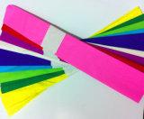 50*250cm DIY handgemachte bunte Krepp-Papierblumen