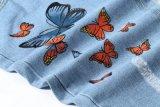 女の子のための2016本の熱い販売ゴム製プリント手のブラシ新しいパターン最新のデザインジーンズのズボン