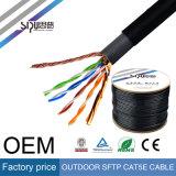 Câble extérieur imperméable à l'eau de réseau de la transmission à grande vitesse SFTP Cat5e de Sipu