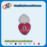 Игрушка коробки кольца ювелирных изделий формы сердца выдвиженческого подарка пластичная