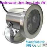 luz subacuática de 3W LED para la piscina, charca, piscinas subacuáticas