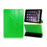 iPadの空気2シンプルな設計のマルチ角度表の箱の革箱