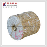 Rodas de lustro pesadas do sisal da força de estaca do aço inoxidável e do metal