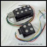 """空気圧縮機のAirmaxxx 480cのクロム3/8 """" NPT弁のエアーバッグ管理Blk 7スイッチブロック弁"""