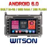 De vierling-Kern van Witson de Androïde Speler van de 6.0 Auto DVD voor de RAM Bulit van Toyota Venza 2g in 4G 16GB ROM