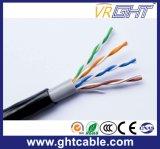 cable al aire libre del Cu UTP Cat5 de 4p 25AWG