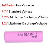 Samsung 26f (2600mAh/20A) батарея 18650 батарей перезаряжаемые