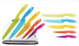 Ensemble de couteaux en acier inoxydable coloré 5PCS avec base en acrylique