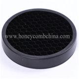 Hoja negra de aluminio enmarcada de la base de panal del color de la dimensión de una variable redonda (HR108)