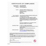 cUL Osram 5630, 24W/M, 60LEDs/M, Waterdichte IP65 LEIDENE Strook