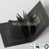 Nuevo rectángulo de regalo del embalaje del papel del negro del perfume del diseño