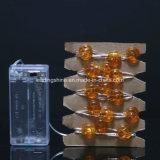 Chaîne légère de chaîne de caractères à piles argentée du fil 2AA de la forme DEL de potiron pour le décor d'intérieur