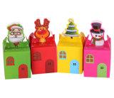 Caixa de presente bonito do Natal do cartão da impressão