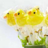 конфета Lollipop трудной конфеты Shpe утки желтого цвета игрушки коробки 3D