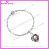 Bracelete Femme das joias da jóia do aço inoxidável com as pulseira de cristal de Pulseiras