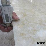 1/4 '' brame extérieure solide acrylique de texture de marbre artificielle épaisse