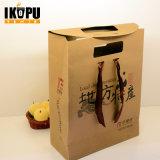 Les sacs à main de papier de luxe faits sur commande de sac de cadeau d'achats avec le logo estampent en gros