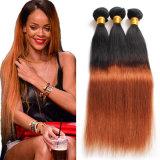 Extensión recta natural brasileña del pelo humano de Remy del pelo de la Virgen