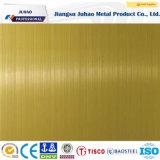 Plaque titanique jaune résistante de l'acier inoxydable 201 304 d'empreinte digitale