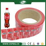 Étiquette de chemise de rétrécissement de chaleur de PVC pour l'emballage mis en bouteille