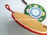Coaster cerâmico bonito da forma redonda com corda para a cozinha/presente