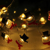 Luz Shaped da corda do Natal do fio de cobre de luz branca de Sonwman