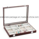 Boîte-cadeau en bois fabriquée à la main de bijou de cadre de bijou de la meilleure qualité
