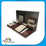 Présentoir en bois acrylique fait sur commande de montre d'exposition de type de mode