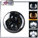 """ジープWrangerの7 """"ジープ、ジープのラングラーTj/Cj/Jk/Fjのための7インチ円形LEDのドライビング・ライトのための側面のハローのヘッドライトのための50W 4800lm 12V-24V Jk LEDのヘッドライト"""