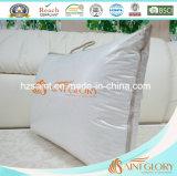 Белые высокого качества оптовые вниз придают непроницаемость подушка пера утки хлопка