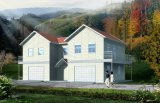 차고 조립식 가옥 집을%s 가진 린 간단한 실제적인 집