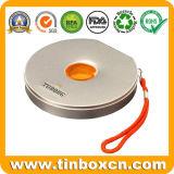 Прямоугольная коробка олова КОМПАКТНОГО ДИСКА, случай олова металла DVD