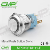CMP 19mm Waterproof Light Push Button Switch com símbolo de energia