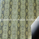 뱀 지상 이중 면 PU 신발 가죽 (QDL-SP045)