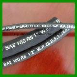 Die einzelne Faser-Flechte (nichtmetallisch), Gummi deckte hydraulischen Schlauch SAE100r6 ab