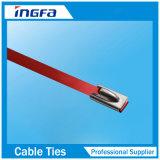 Esfera de alta elasticidade que trava a cinta plástica do metal do aço inoxidável para a estrada de ferro 4.6X350mm