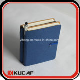 Cuaderno de papel de los diarios de encargo de la impresión con la pluma