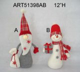 Ragazzo della decorazione di natale & ragazza Snowman-2asst