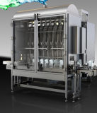 Máquina de etiquetas linear da máquina de enchimento da água 3 in-1
